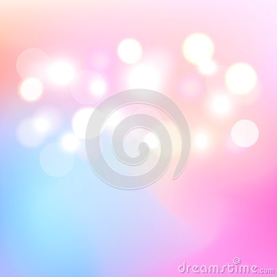 Bokeh colorful light abstract background. Blurry light a backdrop.Vector. Illustration. Vector Illustration