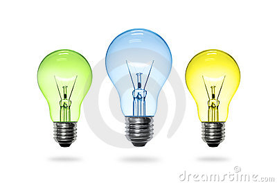 Colorful light bulb