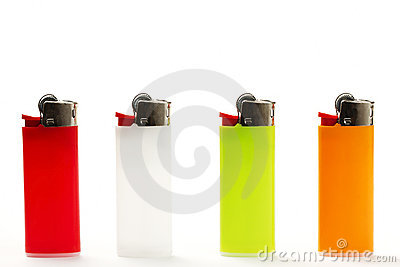 Colorful lighter row
