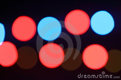 Colorful lighting spots sparkling