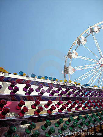 Colorful lights & ferris wheel