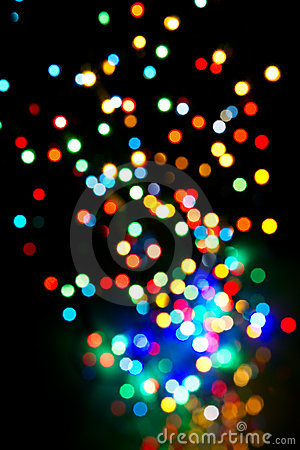 Colorful lights fly