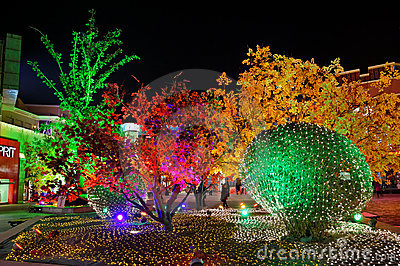 Colorful lights for new year Editorial Photo