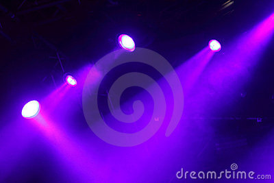 Colorful lights in a  stage