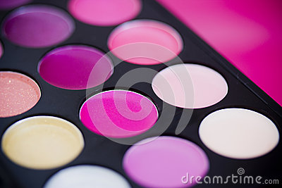 Colorful lipgloss palette