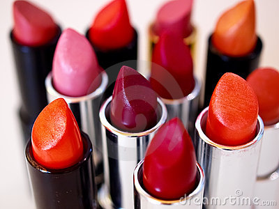 Colorful lipsticks - make-up series