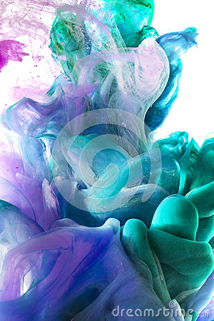 Free Colorful Liquids Underwater.  Colorful Abstract Composition. Stock Photos - 58669283