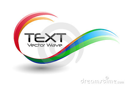 Colorful Logo Swirl Wave