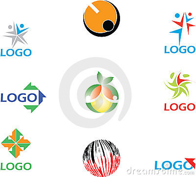 Colorful logos collection