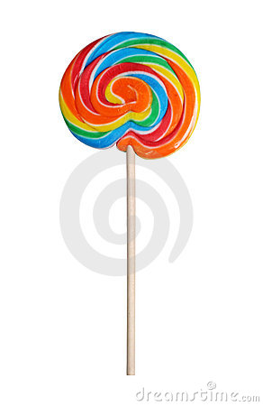 Colorful lollipop with path