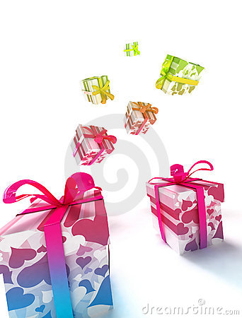 Colorful lValentine Packages