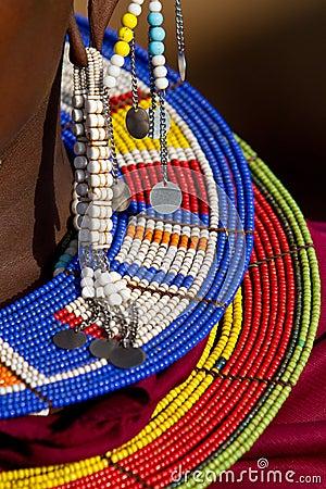 Free Colorful Maasai Jewellery Royalty Free Stock Image - 20947176
