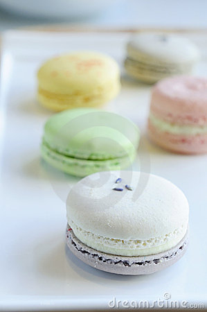 Colorful Macaron on dish