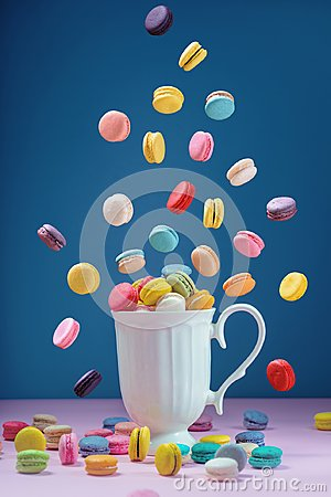 Free Colorful Macarons Or Macaroons Dessert Sweet Beautiful To Eat Royalty Free Stock Images - 117420019
