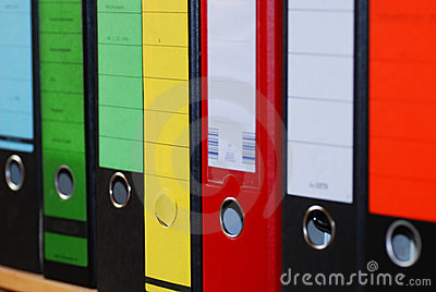 Colorful Magazine File Boxes