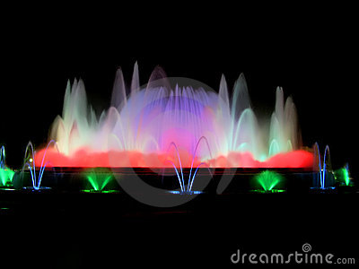 Colorful magic fountain