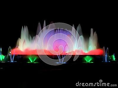 Colorful magic fountain