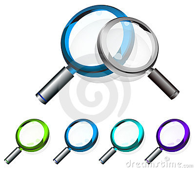 Colorful magnifying glass