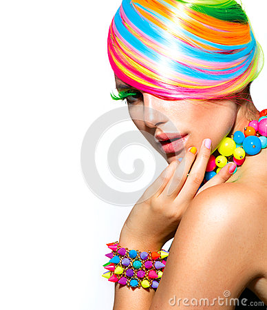 Free Colorful Makeup, Hair And Accessories Stock Photography - 32693442