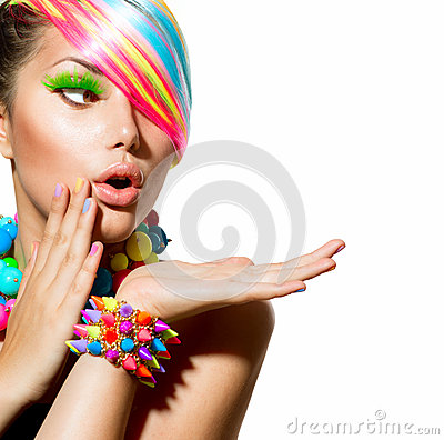Free Colorful Makeup, Hair And Accessories Stock Image - 32693451