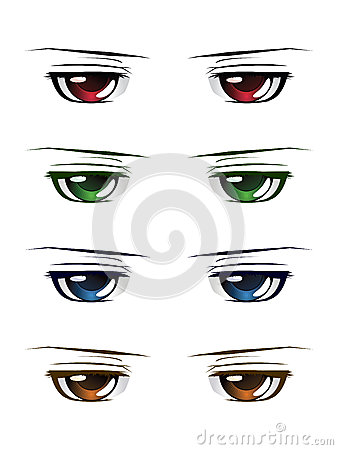 Enjoyable Anime Male Eyes Stock Photos Image 33984003 Hairstyles For Men Maxibearus