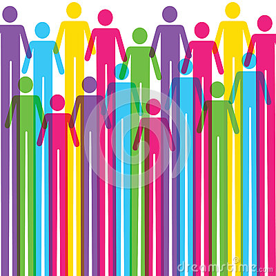 Colorful Man icon background