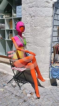 Colorful mannequin Editorial Photo