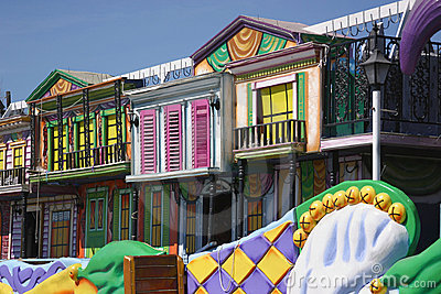 Colorful Mardi Gras Float Details