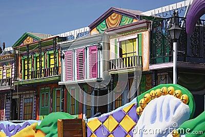 Colorful Mardi Gras Float Details