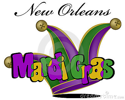 Colorful Mardi Gras poster in vector