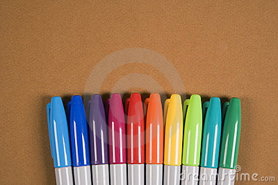 Colorful markers.