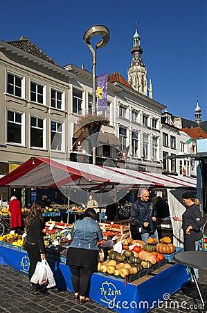 Free Colorful Market In The Dutch City Breda, Netherlan Stock Photo - 35400100