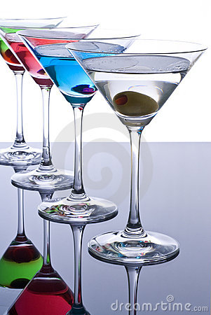 Free Colorful Martini Cocktails Stock Photos - 17749763