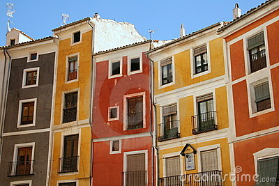 Colorful mediterranean houses