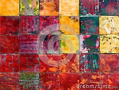 Colorful metallic art piece