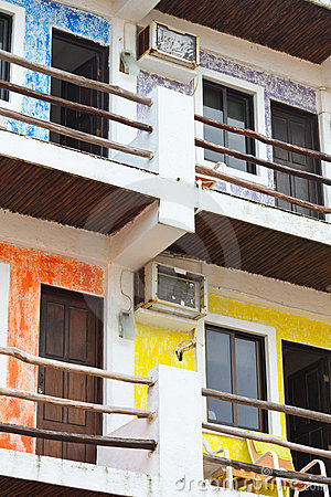 Colorful Mexican apartments