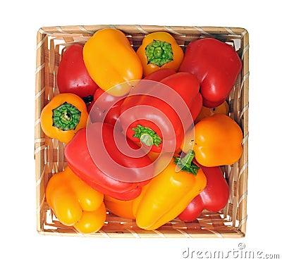 Colorful mini bell pepper