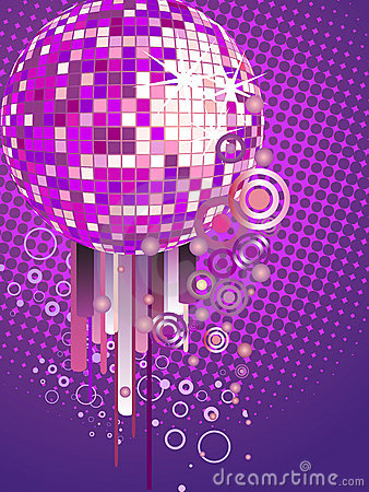 Colorful mirror ball