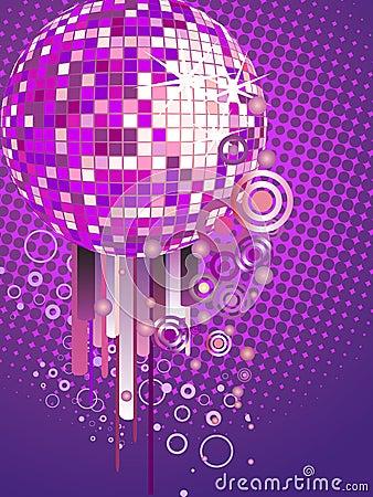 Colorful mirror ball