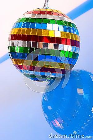 Colorful mirror-ball