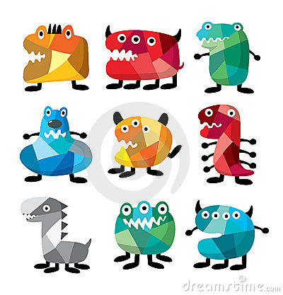 Free Colorful Monster Royalty Free Stock Image - 16316436