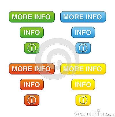 Colorful more info button sets