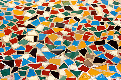 Colorful mosaic floor