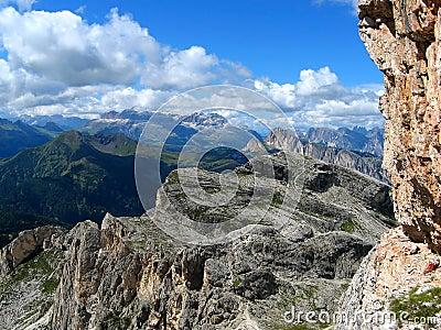 Colorful mountain range view