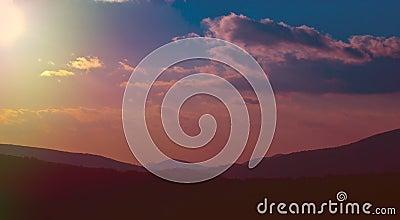 Colorful Mountain Sky