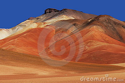 Colorful mountains in Bolivian Andes