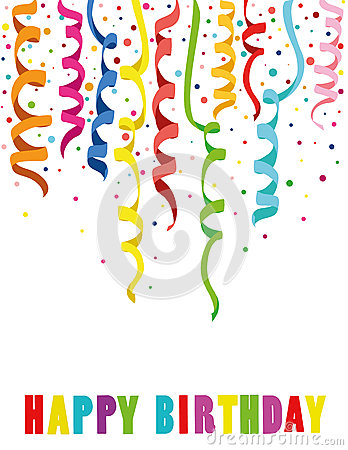 Colorful multicolored confetti. Holiday happy birthday. Vector. Stock Photo