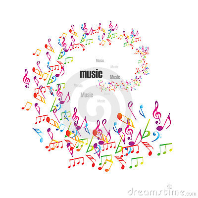 Free Colorful Music Background With Clefs Royalty Free Stock Photos - 15048138