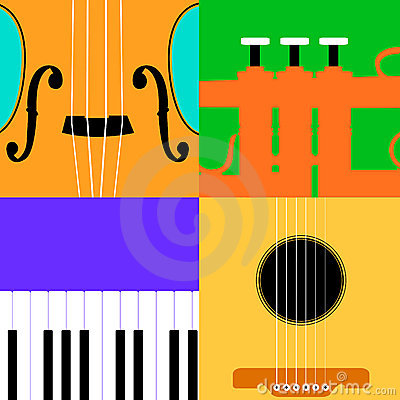 Colorful music instrument background