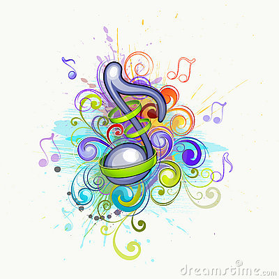 Colorful music notes Vector Illustration